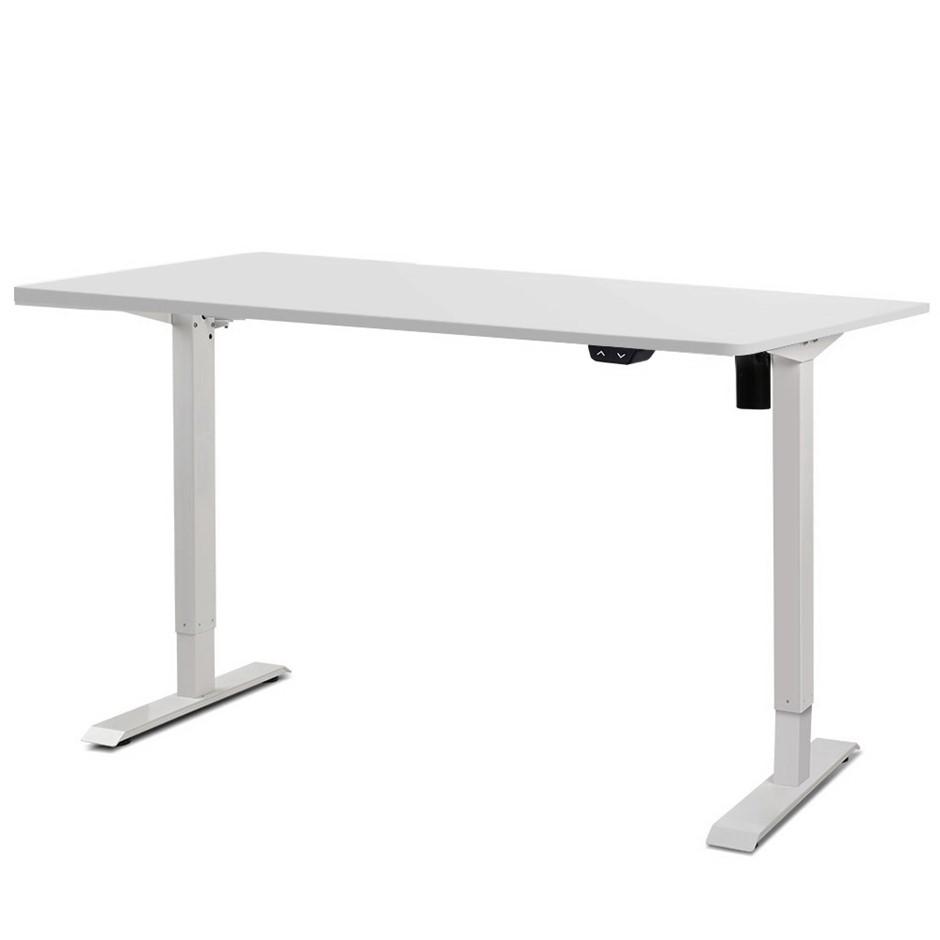 Artiss 100cm Motorised Height Adjustable Standing Desk Computer White