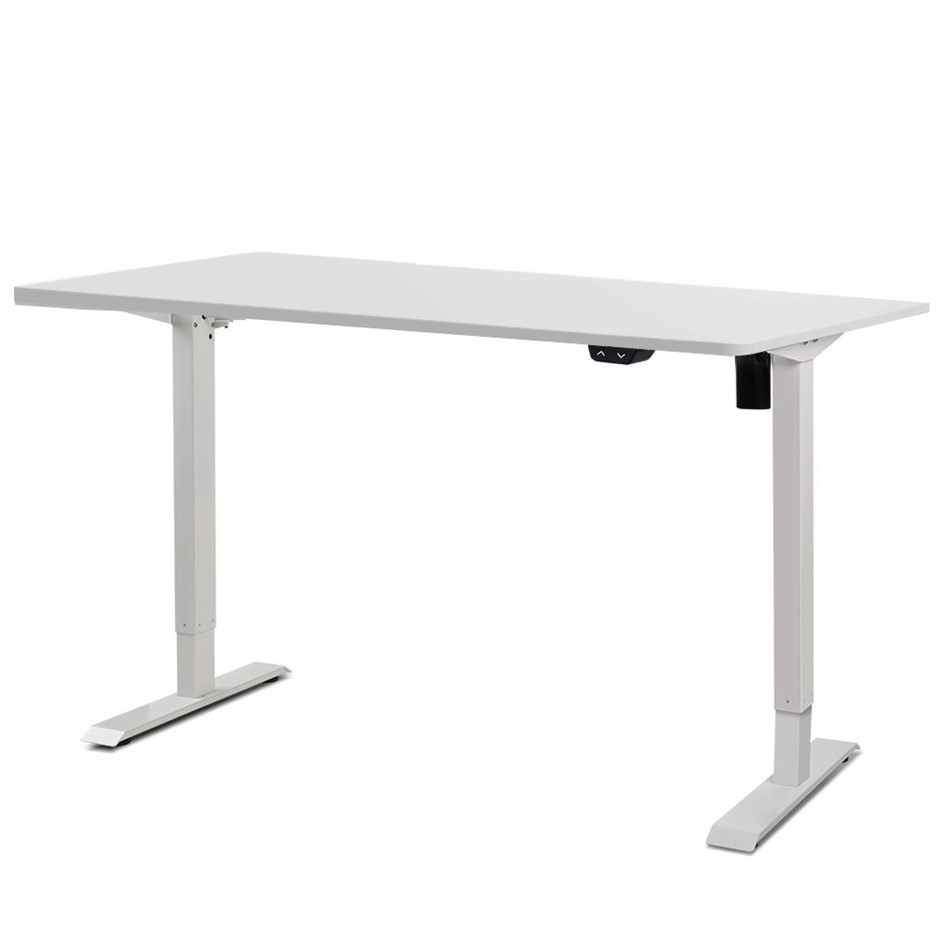 Artiss Roskos I Motorised Height Adjustable Standing Desk Laptop White
