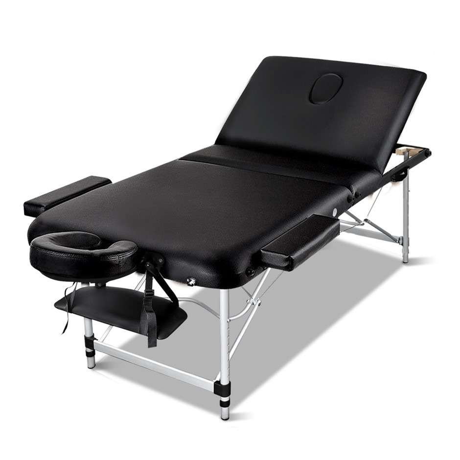 Zenses Massage Table 75cm Portable 3 Fold Aluminium Therapy Beauty Bed