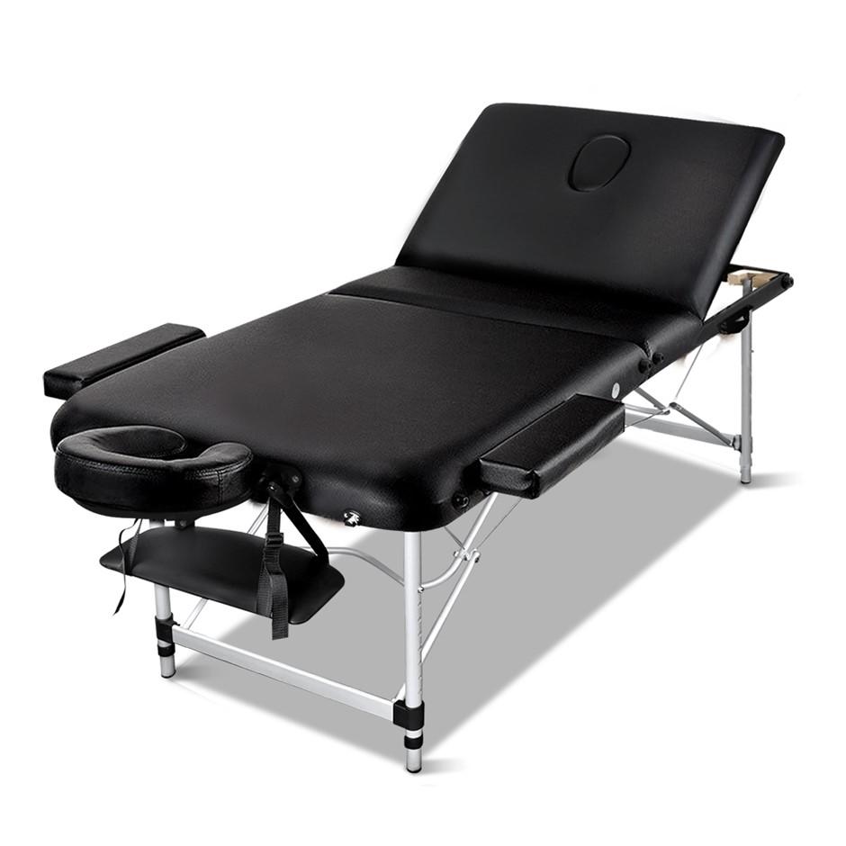 Zenses Massage Table 75cm Portable 3 Fold Aluminium Therapy Beauty Bed