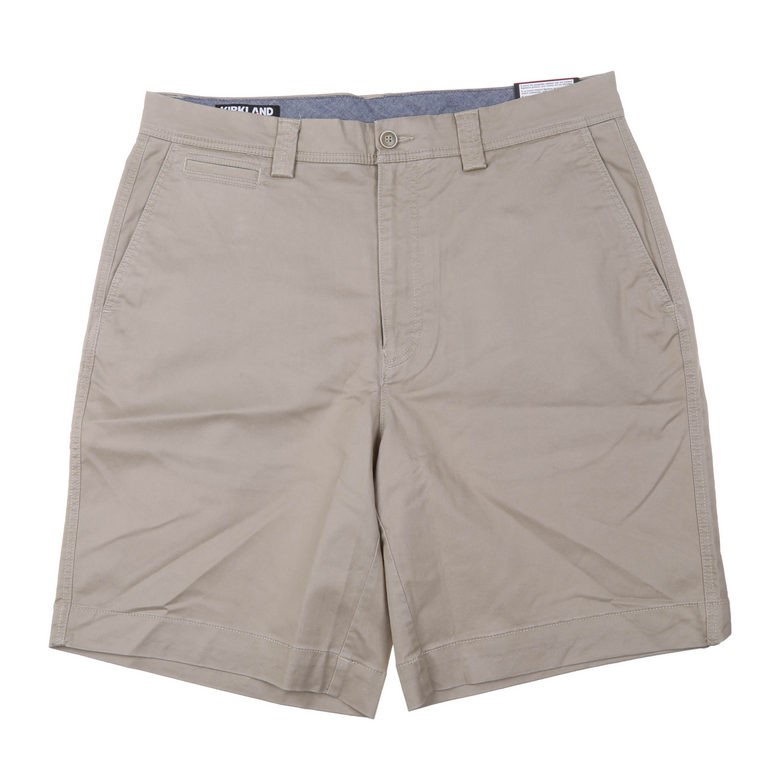 SIGNATURE Men`s Cotton Twill Shorts, Size 38, Khaki. Buyers Note - Discount