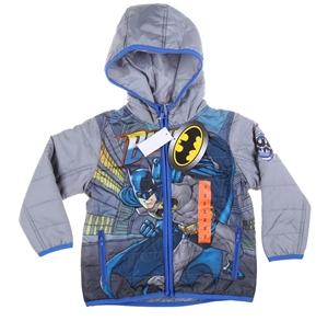 BATMAN Boy`s Puffer Jacket, Size 2, Grey