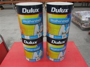 Qty 4 x Dulux 10L Paint