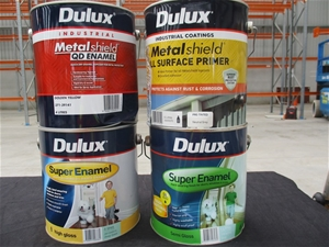 Qty 39 x Dulux 4L Assorted Paint and Pri