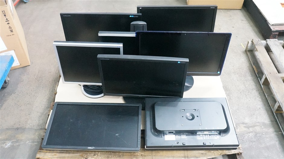 Pallet of Assorted Brand and Model Monitors (9-Pack)