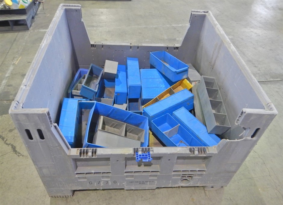 Stillage Containing Part Trays & Screw hardware (Pooraka, SA)