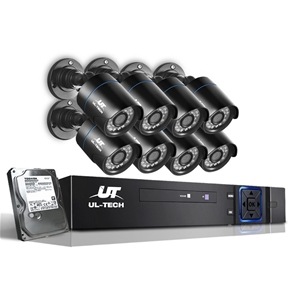 UL Tech CCTV Security System 2TB 8CH DVR