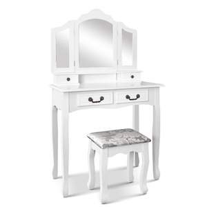Artiss Dressing Table with Mirror - Whit
