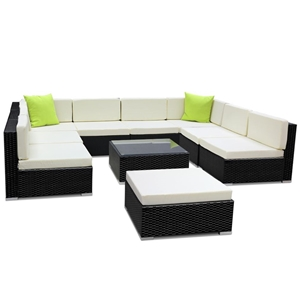 Gardeon 10 Piece Outdoor Furniture Set W