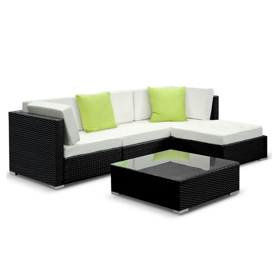 Gardeon 5 Piece Outdoor Furniture Set Wicker Sofa Lounge