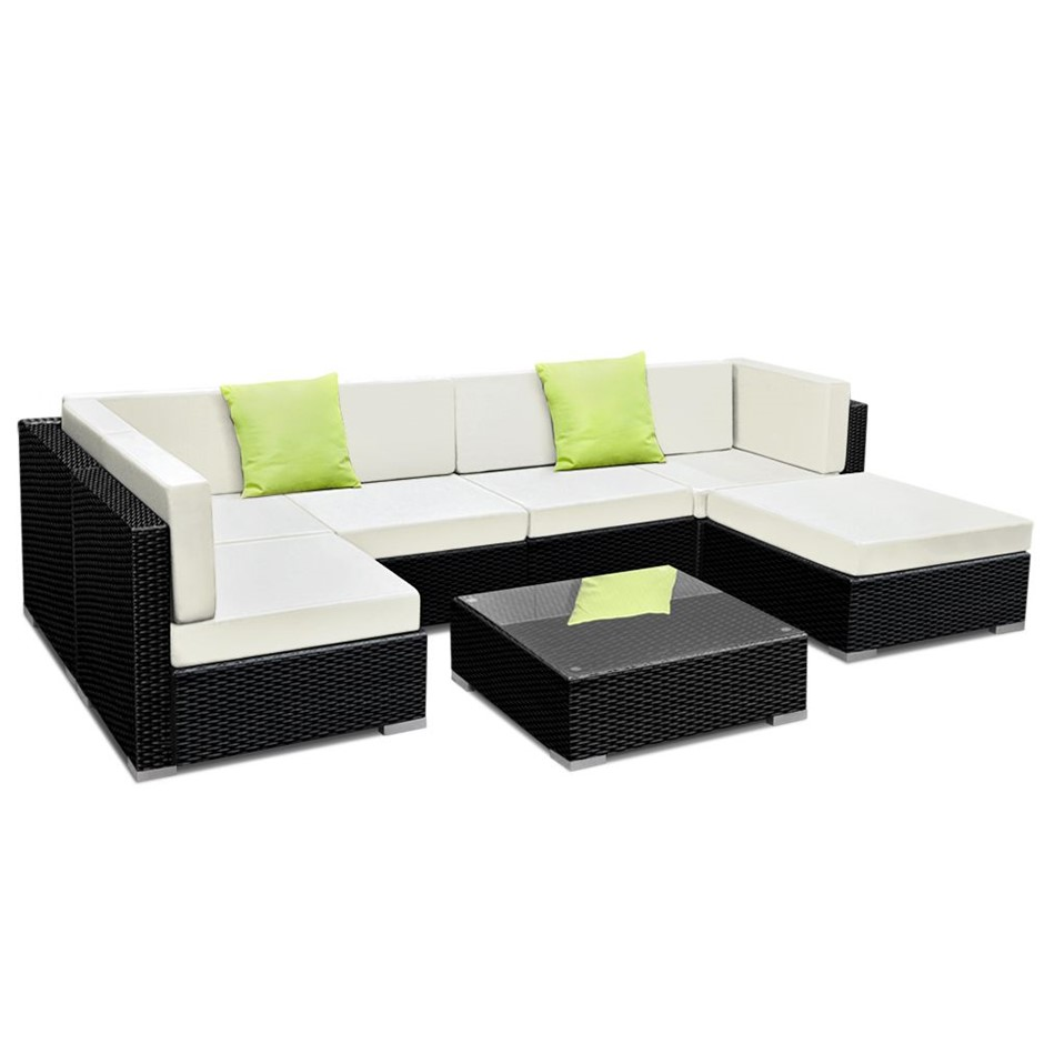 Gardeon 7 Piece Outdoor Furniture Set Wicker Sofa Lounge