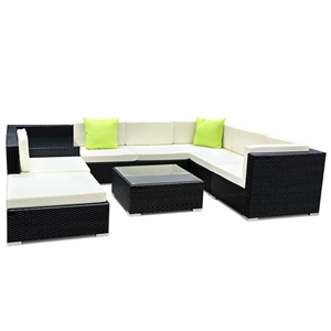 Gardeon 9 Piece Outdoor Furniture Set Wi