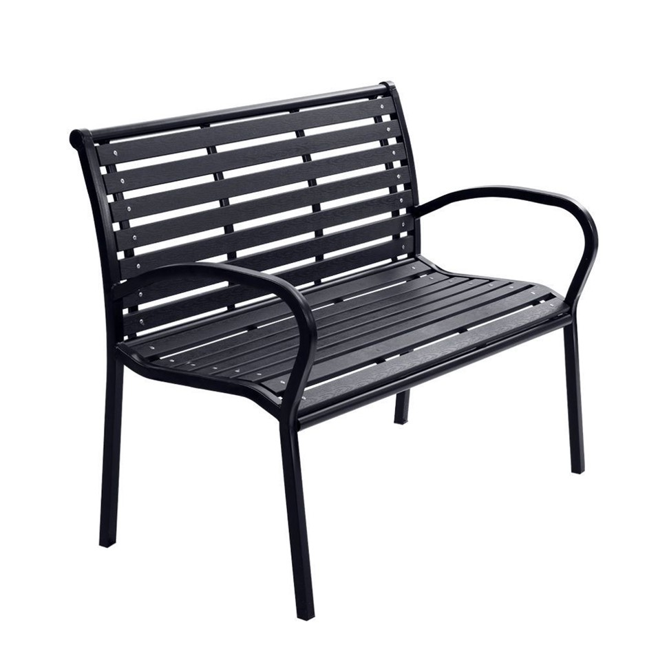 Gardeon Garden Bench Outdoor Furniture Chair Steel Lounge Backyard Patio