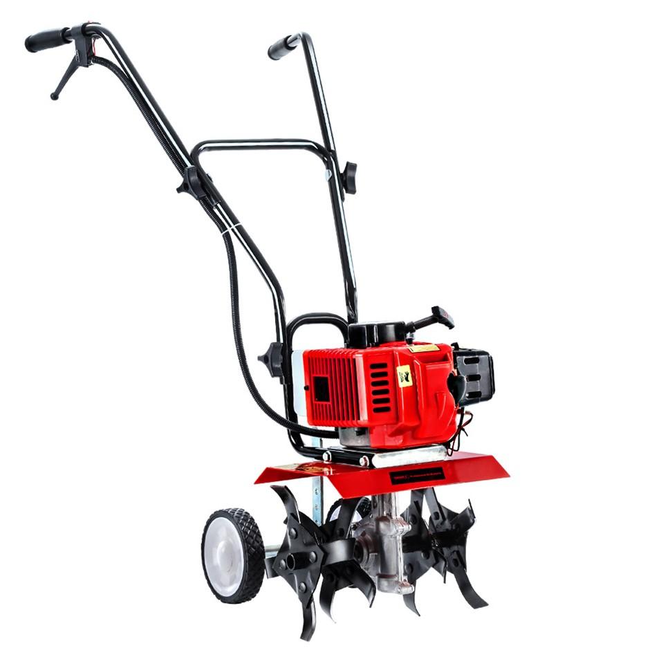 Giantz Cultivator 65CC Tiller Petrol Rotary Hoe Mini 4 Tine Rototiller