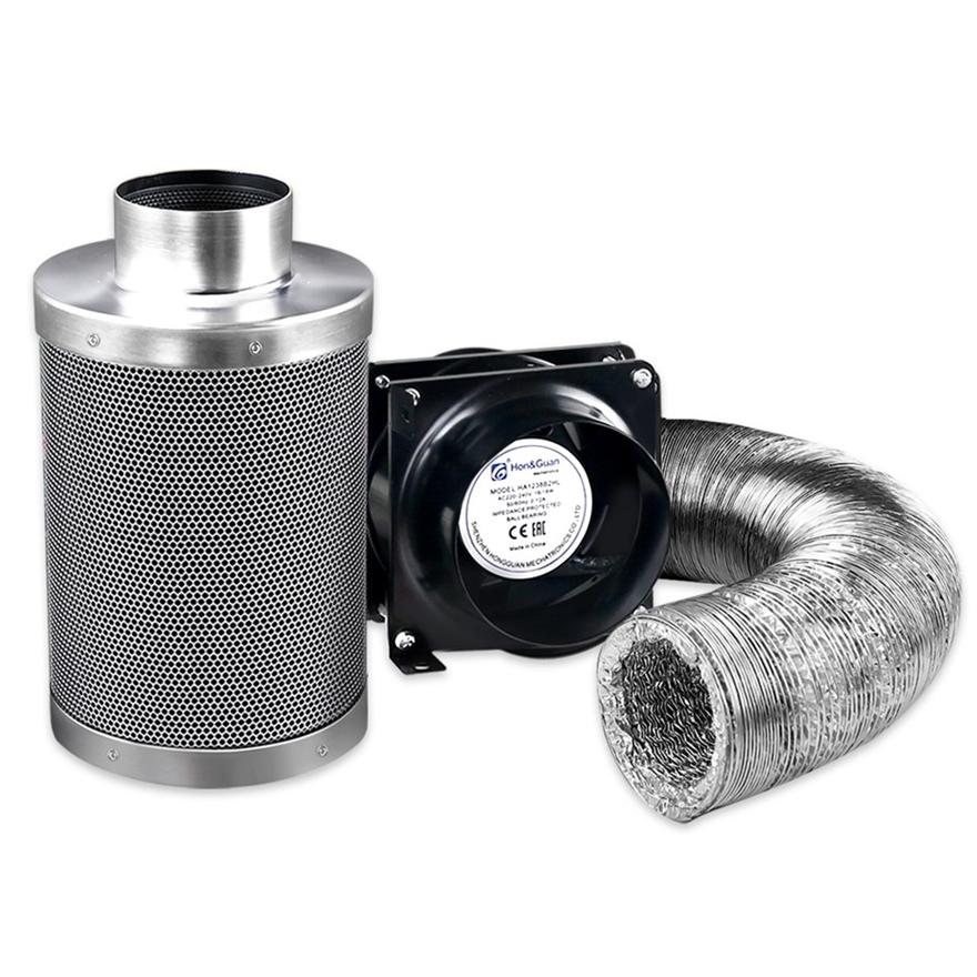"Buy 4"" Hydroponics Grow Tent Ventilation Kit Carbon Filter ..."
