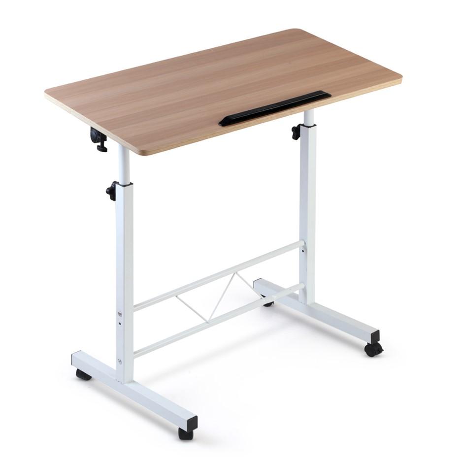Portable Desk Laptop Computer Table Mobile Desktop Stand Tilt Bed