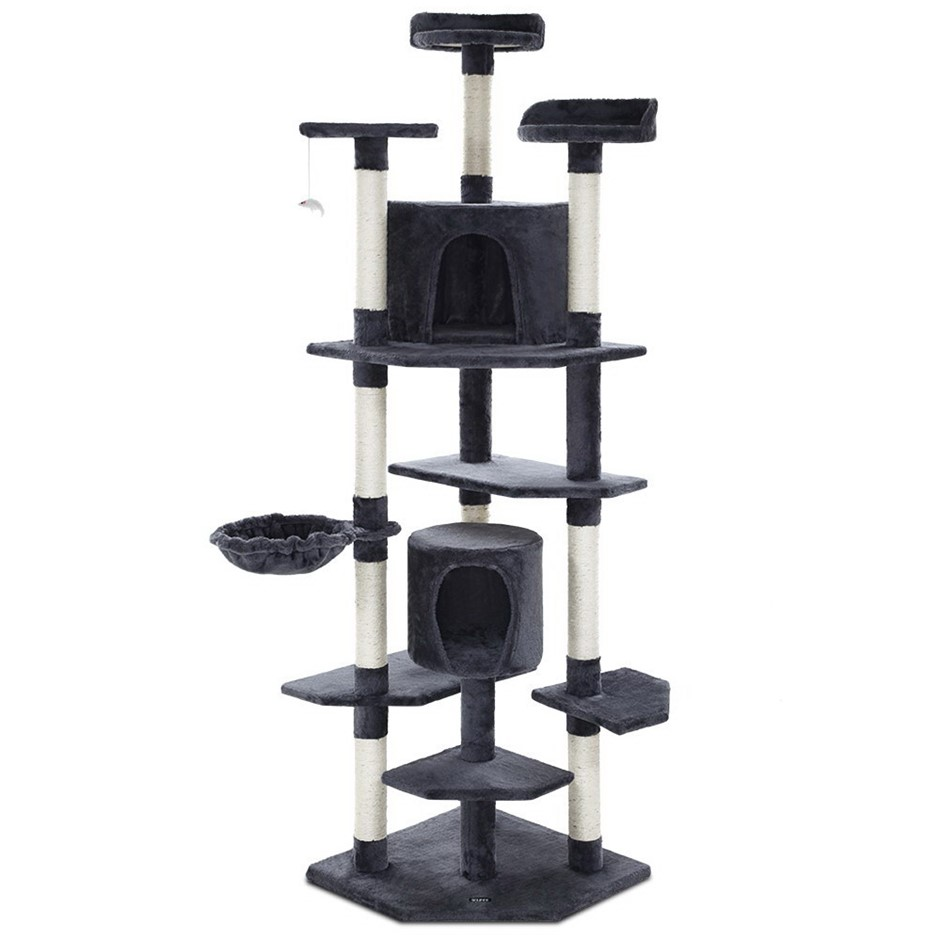 i.Pet Cat Tree Scratching Post Scratcher Tower Condo House Furniture Wood