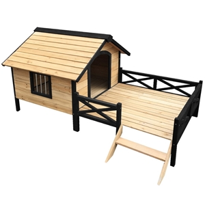 i.Pet Dog Kennel Kennels Outdoor Wooden