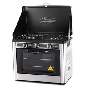 Devanti 3 Burner Portable Oven - Silver