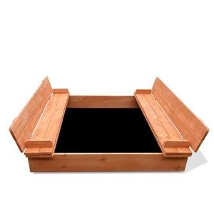 Keezi Wooden Outdoor Sandpit Set - Natur