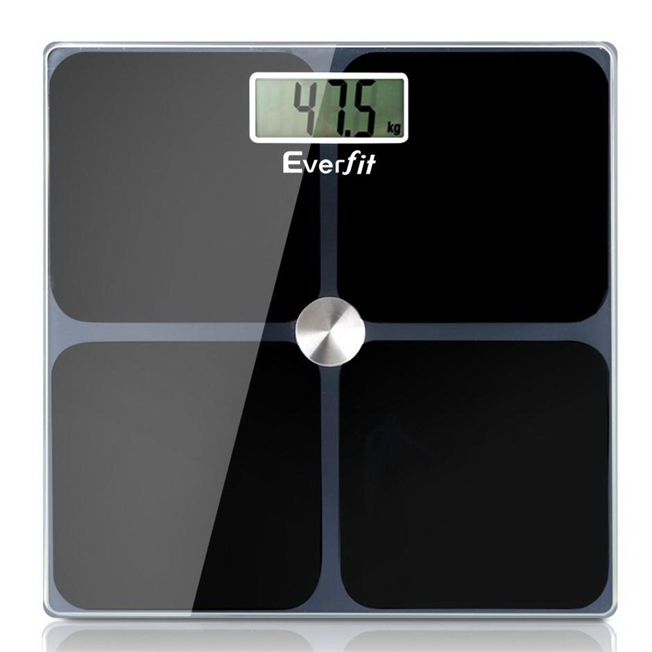 Everfit Digital Body Fat Weighing Scale Bathroom Gym Weight Glass LCD