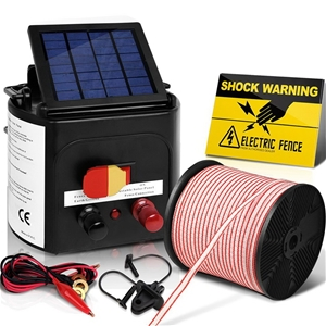 Giantz 5km Solar Electric Fence Energise