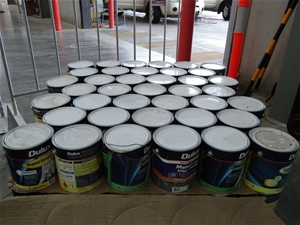 4 Litres Pallet of Assorted Paint