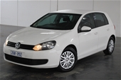 Unreserved 2012 Volkswagen Golf 77TSI A6