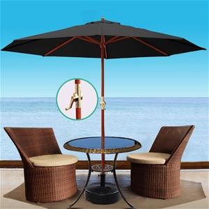 Instahut 3M Umbrella w/Base Outdoor Pole