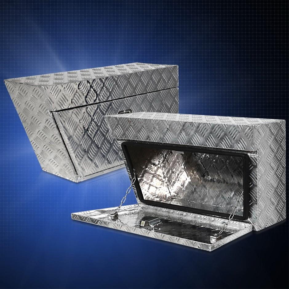 Giantz Pair of Under Tray Tool Box Aluminium Alloy Underbody Toolbox