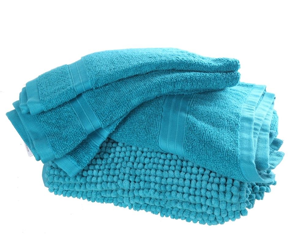 CROWNING TOUCH 6pc Gift Set, Incuding: Bath Towel (71cm x 132cm), 2 x Hand