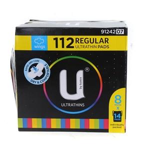 112pk U BY KOTEX Regular Ultra Thin Pads