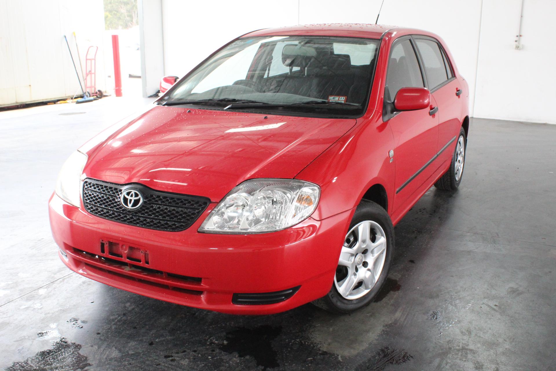2003 Toyota Corolla Ascent Seca ZZE123R Manual Hatchback