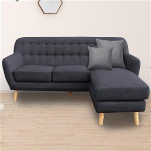 Sarantino Linen Sofa Couch Lounge w/ Cha