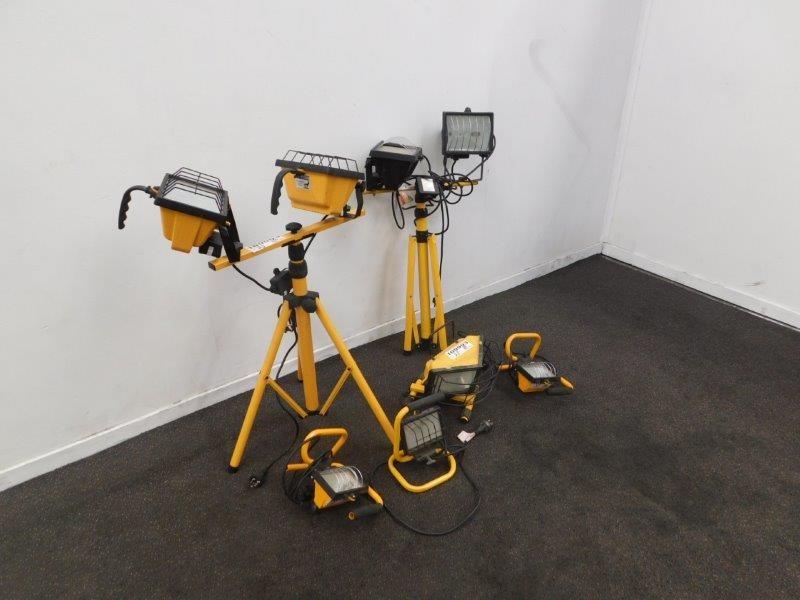 Qty 6 x Halogen Flood Lights/Work Lights