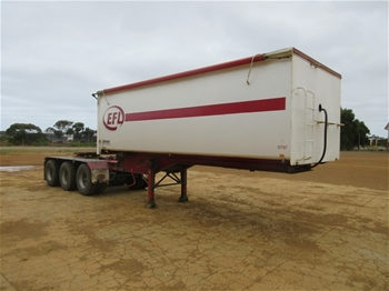 2013 Triad Triaxle ``A`` Section Rear Tipping Trailer