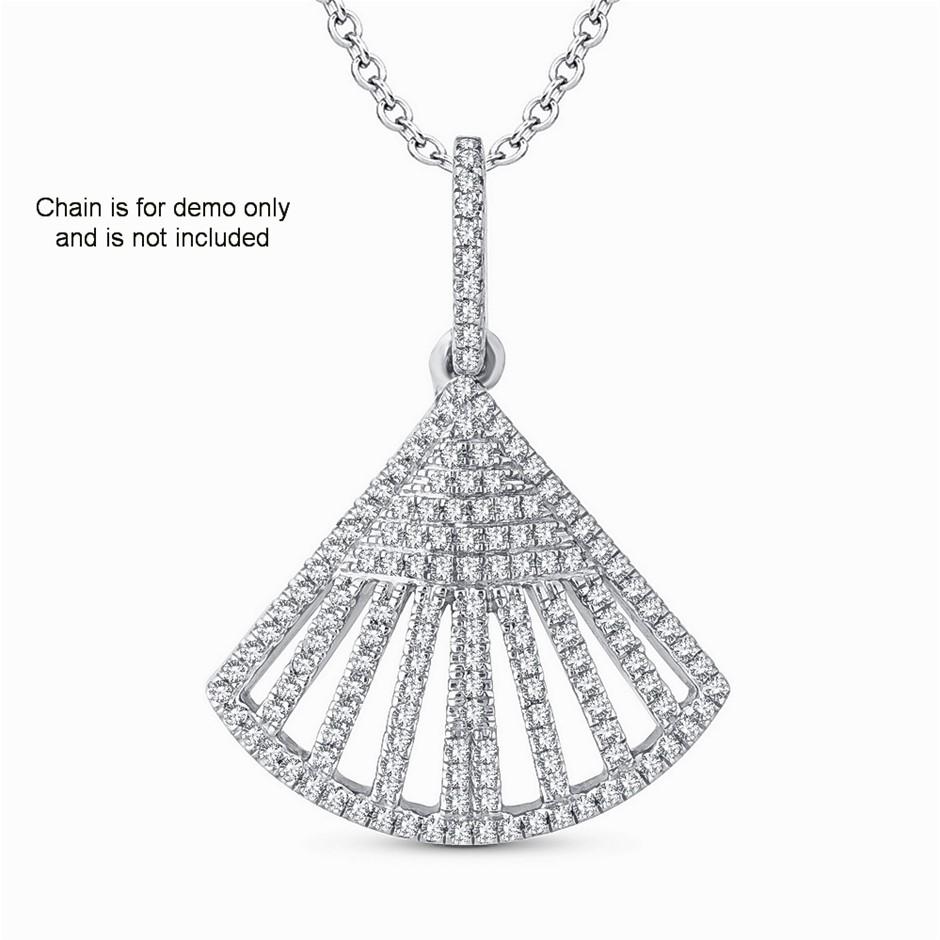 9ct White Gold, 0.18ct Diamond Pendant