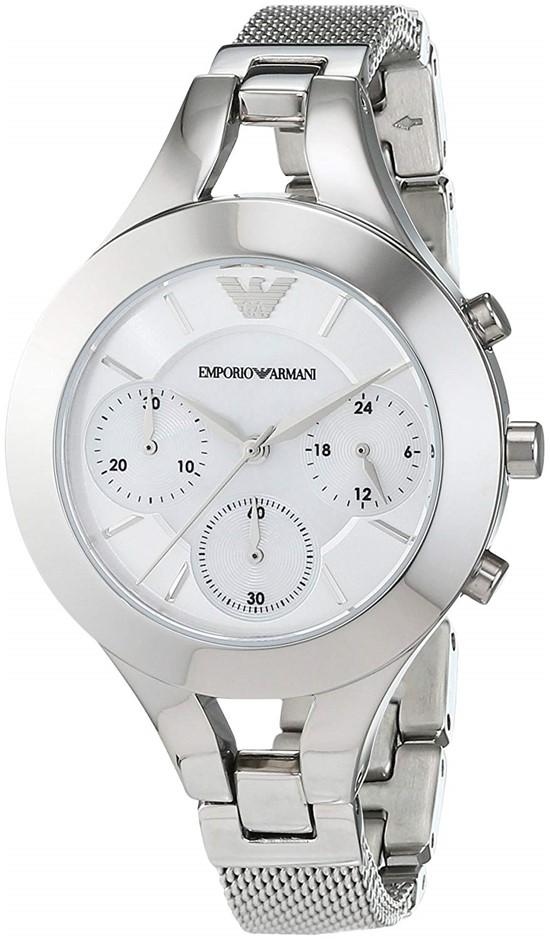 Stylish new Emporio Armani Ladies Chronograph watch.