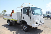 Unreserved 2012 Isuzu NPS300 Crane Service Truck (Ex Corp)