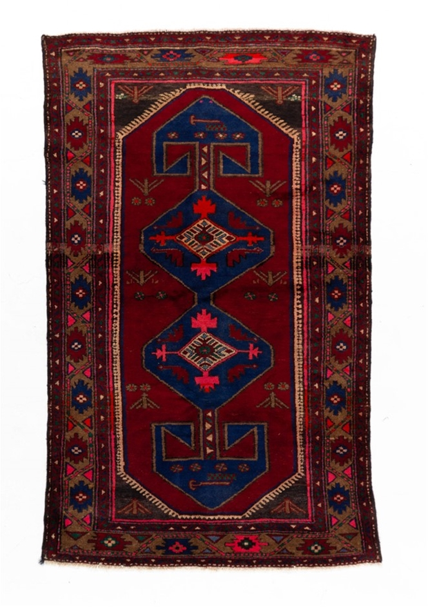 Persian Hamadan Hand Knotted Pure Wool