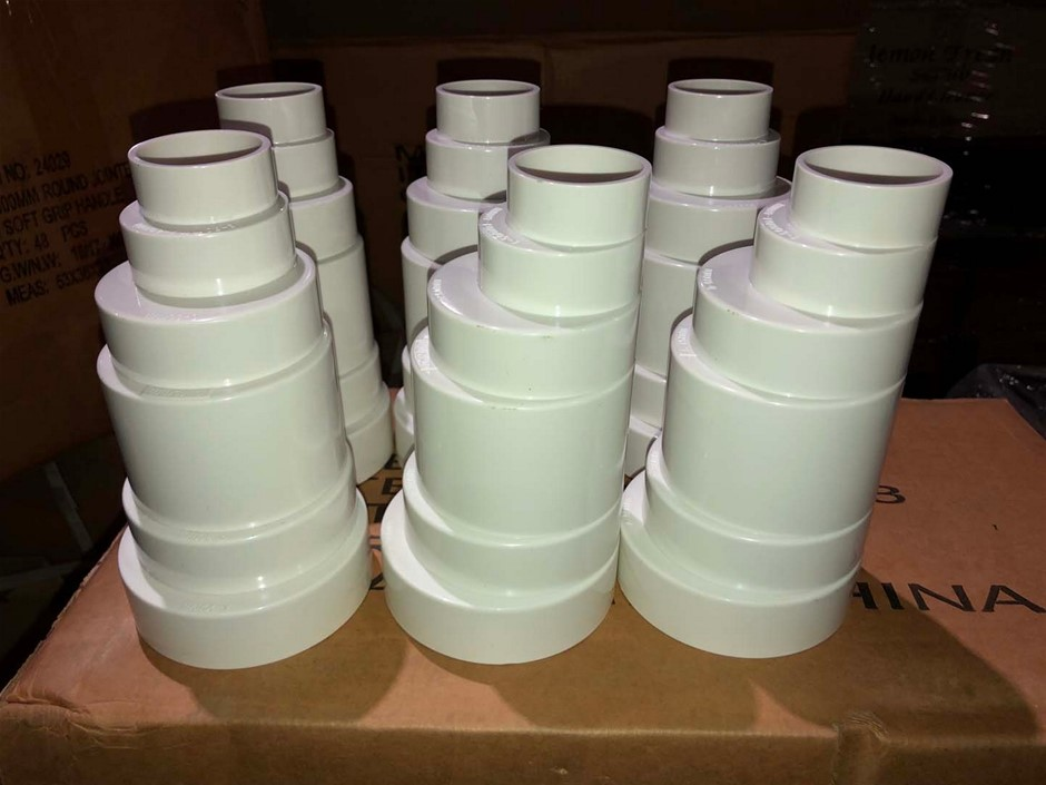 6 x PVC Pipe Step Reducers - Incremental