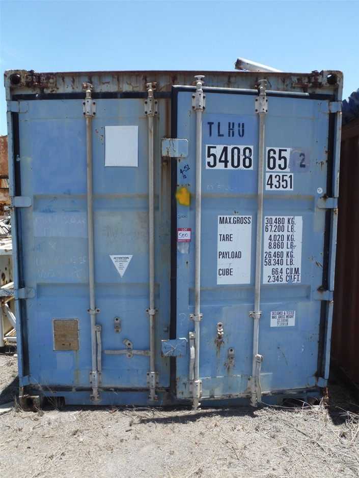 40 Foot Open Top Shipping Container Blue