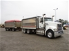 2010 Mack Trident 6 x 4 Tipper Truck & 2007 Muscat MT-310-3 Dog Trailer