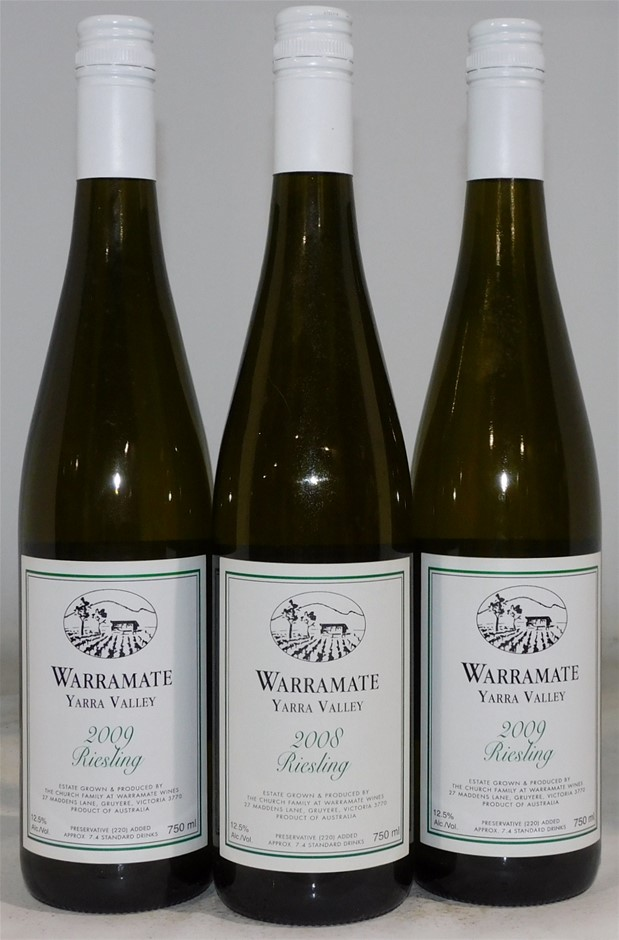 Pack of Assorted Warramate Riesling (3x 750mL) Yarra Valley, VIC