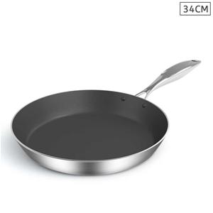 SOGA Stainless Steel Fry Pan 34cm Frying