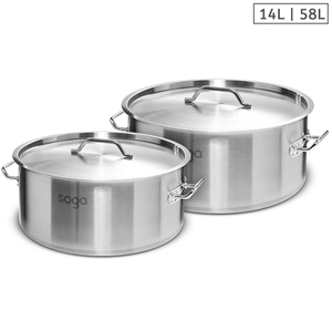 SOGA Stock Pot 14L 58L Top Grade Thick S