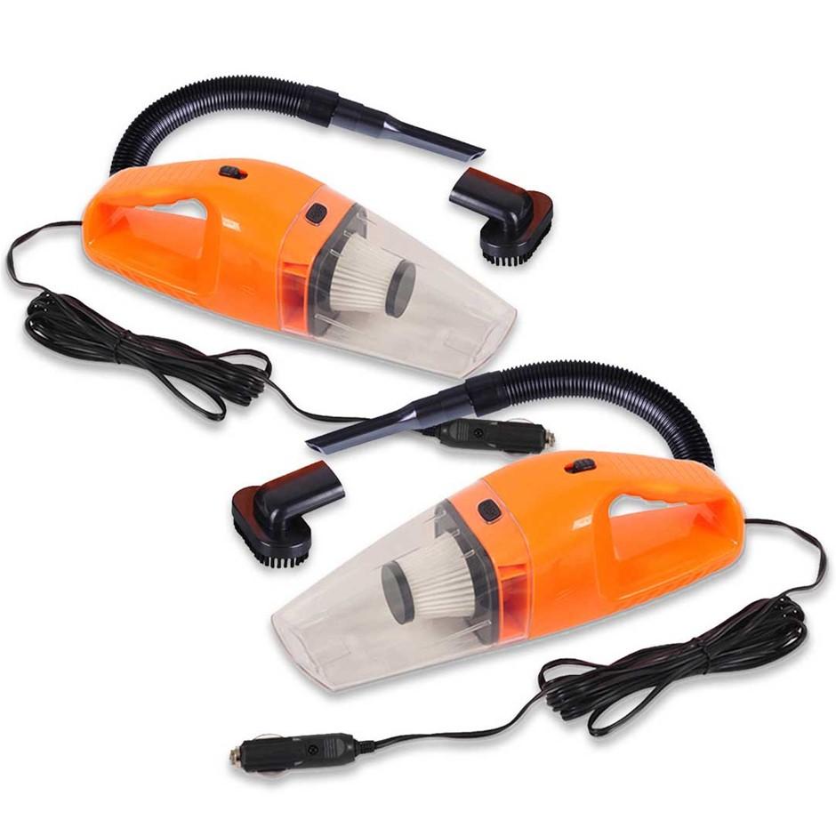 SOGA 2x 120W Portable Handheld Vacuum Cleaner Car Boat Vans Orange