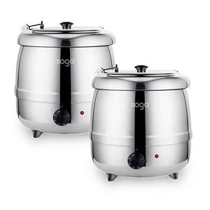 SOGA 2X 10L Soup Kettle Commercial Elect