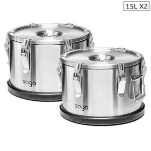 SOGA 2x 304 30*23cm Stainless Steel Insu