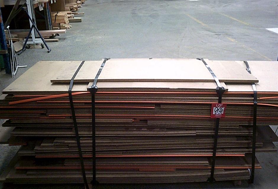 Pack of Orange Tongue Flooring. Approximately 30 sheets.
